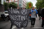 Seattle anarchists protest Israels occupation of Palestine.