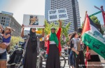 Demonstrators protest for peace in Gaza.