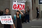 Activists protest current violence in Gaza during the second pro Palestine rally in as many weeks.