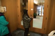 The consulate doors locked remotely as the activists walked into the lobby.